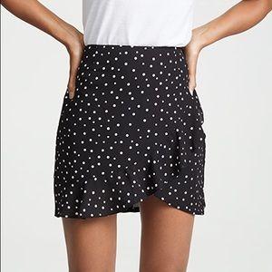 MISGUIDED  polka dot frill mini skirt